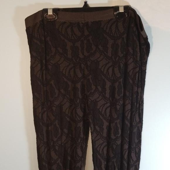 X black lace leggings/sheer tights